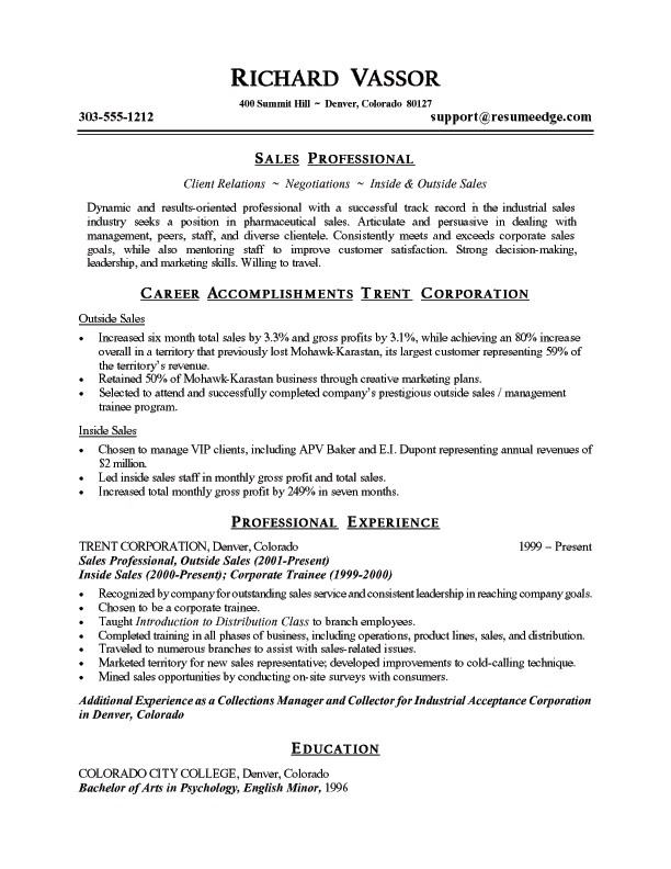 resume summary examples sales resume sample