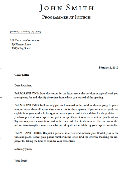 Cover Letter Templace 15 S Consultant Exle Template