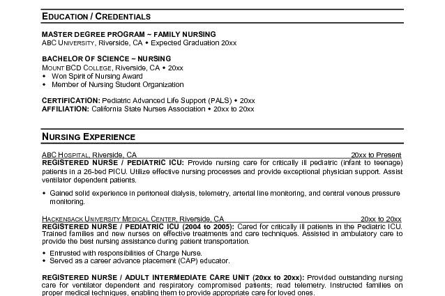 Pediatrician Resume Sample Pediatric Nurse Cover Letter
