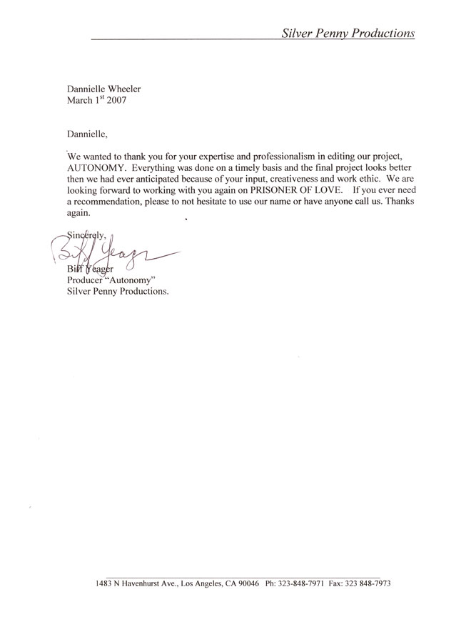Business Letter Format Block Style