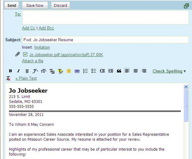 How To Send Cover Letter Via Email | How To
