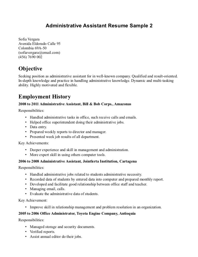 beaufiful resume of administrative istant images gallery resume