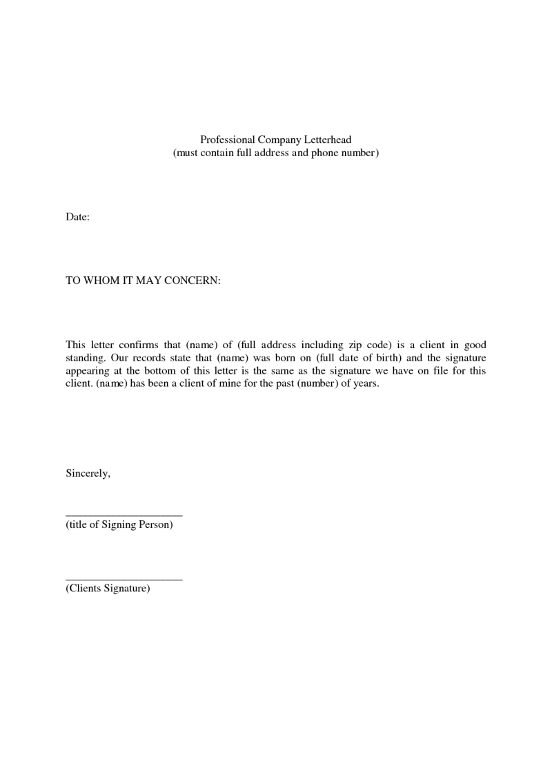 employment reference letters examples