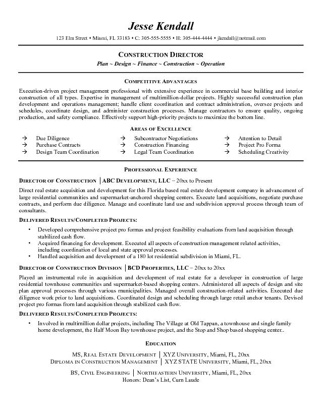 Construction Job Resume Template. Resume Construction Worker And