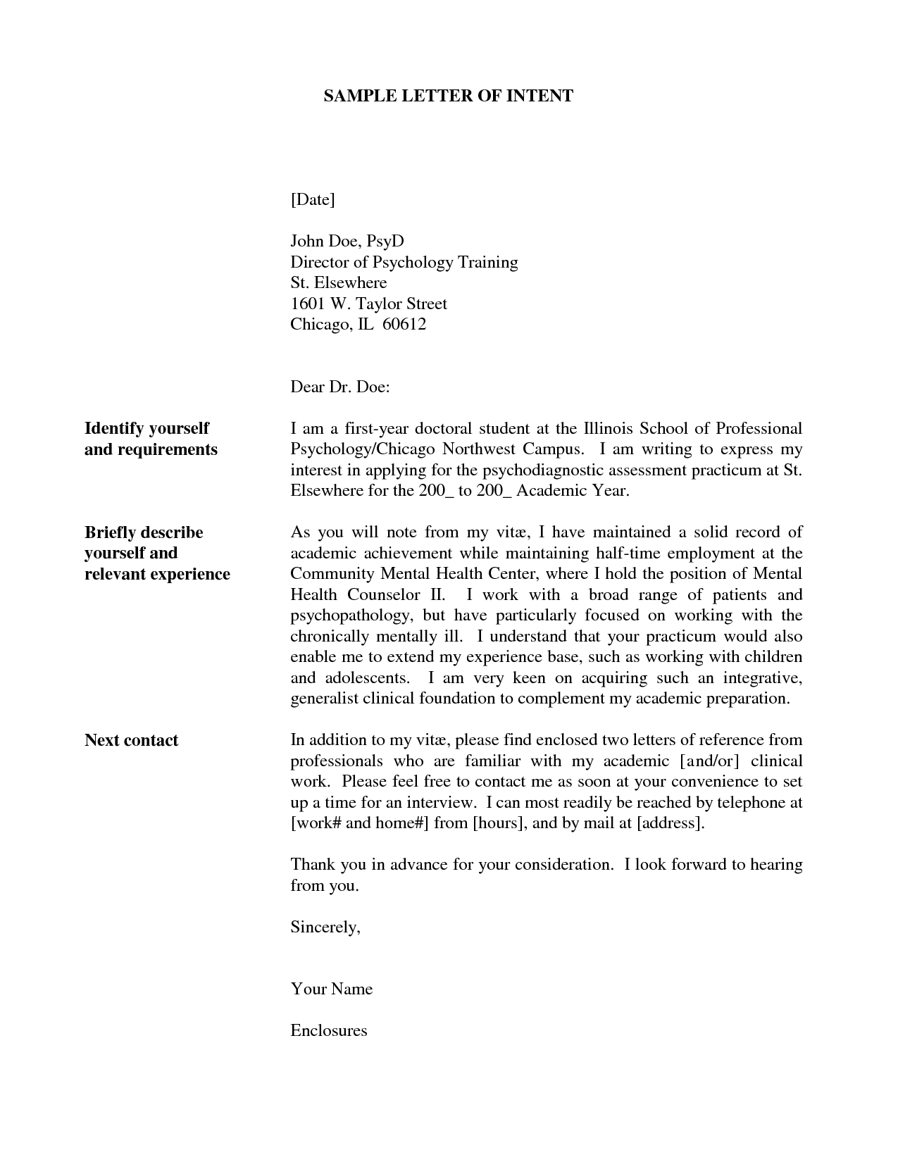 Doc12751650 Letter of Intent for Employment Template Letter – Letter of Intention Template