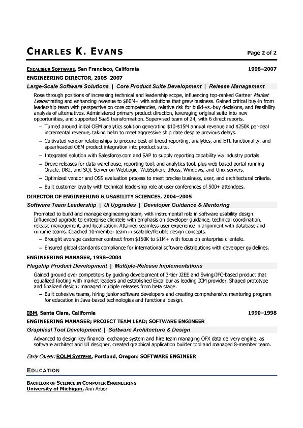 Objective Resume Software Engineer. Software Engineer Resume