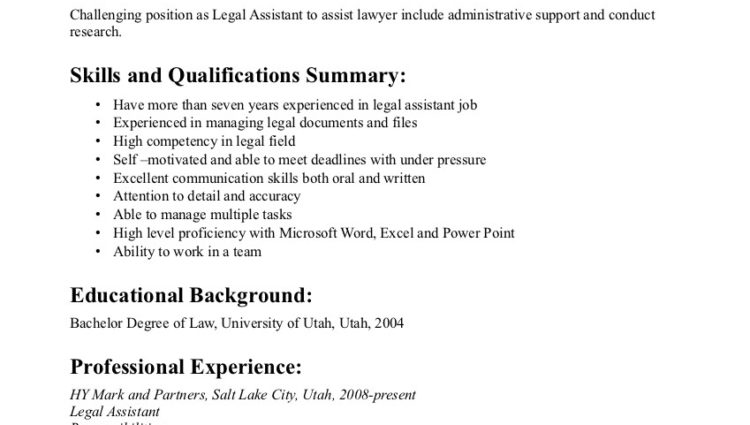 personal injury paralegal resume objective experience