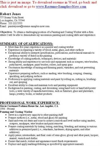 Best Format House Painter Resume Samplebusinessresume  Painter Resume