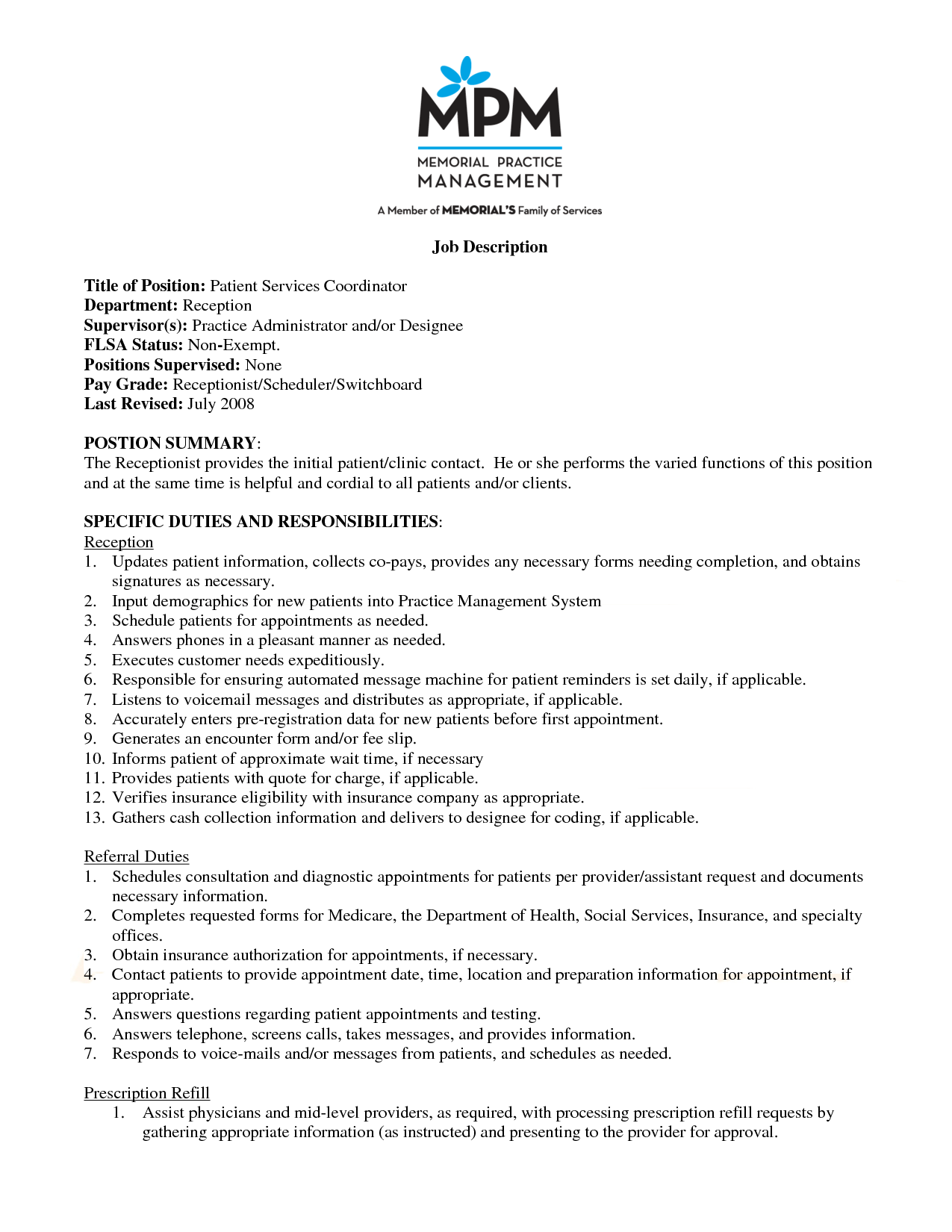 referral coordinator resume sample