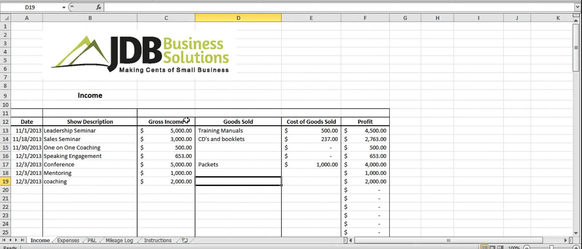 Tax Prepartion Worksheet Excel