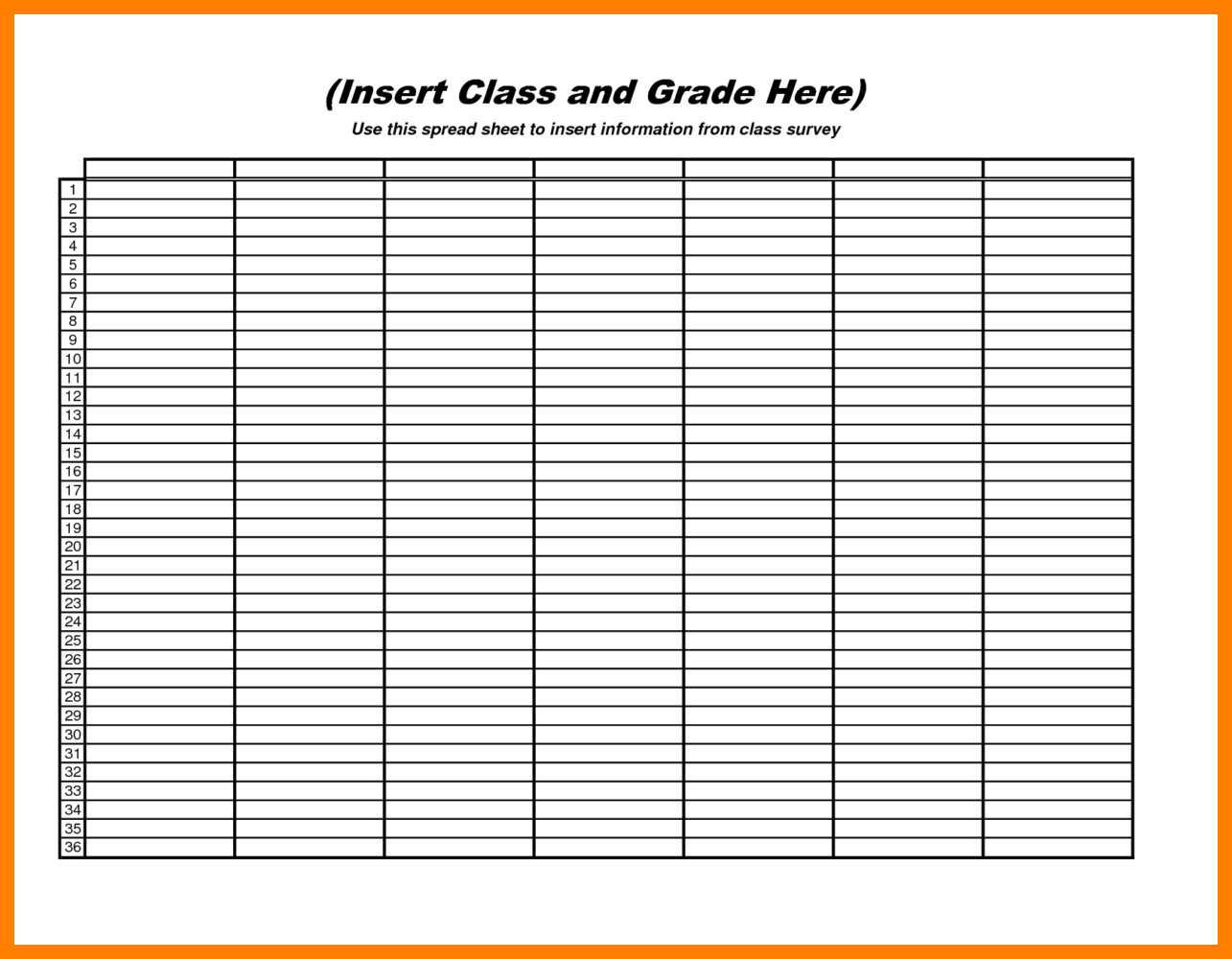 Free Blank Printable Spreadsheet Downloads