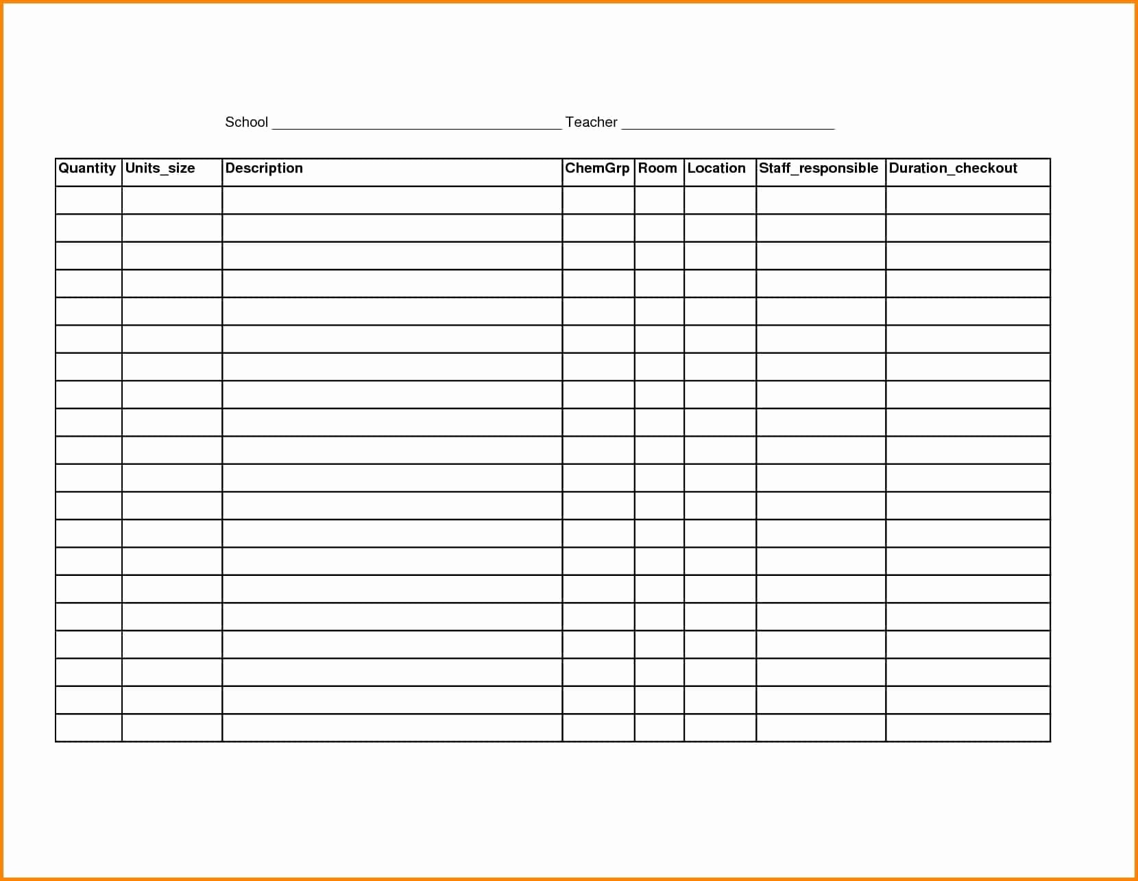 Free Printable Spreadsheet