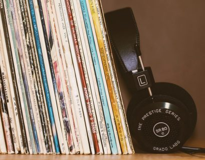 Records and headphones