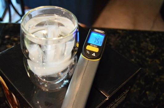 Ozeri Serafino Glass with 38 degree iced water