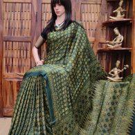 Aakaansha - Ajrakh Modal Silk Saree
