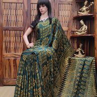 Aalaya - Ajrakh Modal Silk Saree