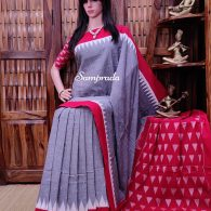 Bhagwanti - Ikkat Cotton Saree without Blouse