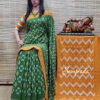 Bhanumathi - Ikkat Cotton Saree without Blouse