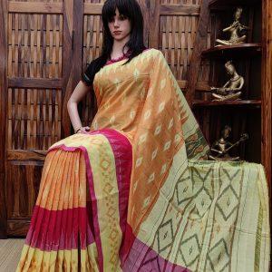 Bindhumalini - Ikkat Cotton Saree without Blouse