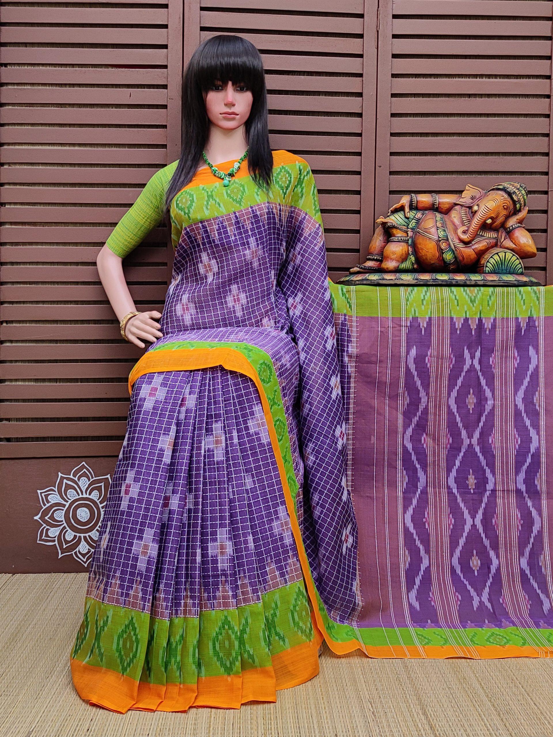 Kantamani - Ikkat Mutyam Gadi Cotton Saree