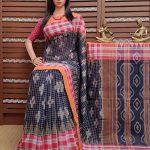 Kaslunira - Ikkat Mutyam Gadi Cotton Saree