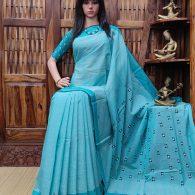 Inakshi - Jamdani Cotton Saree