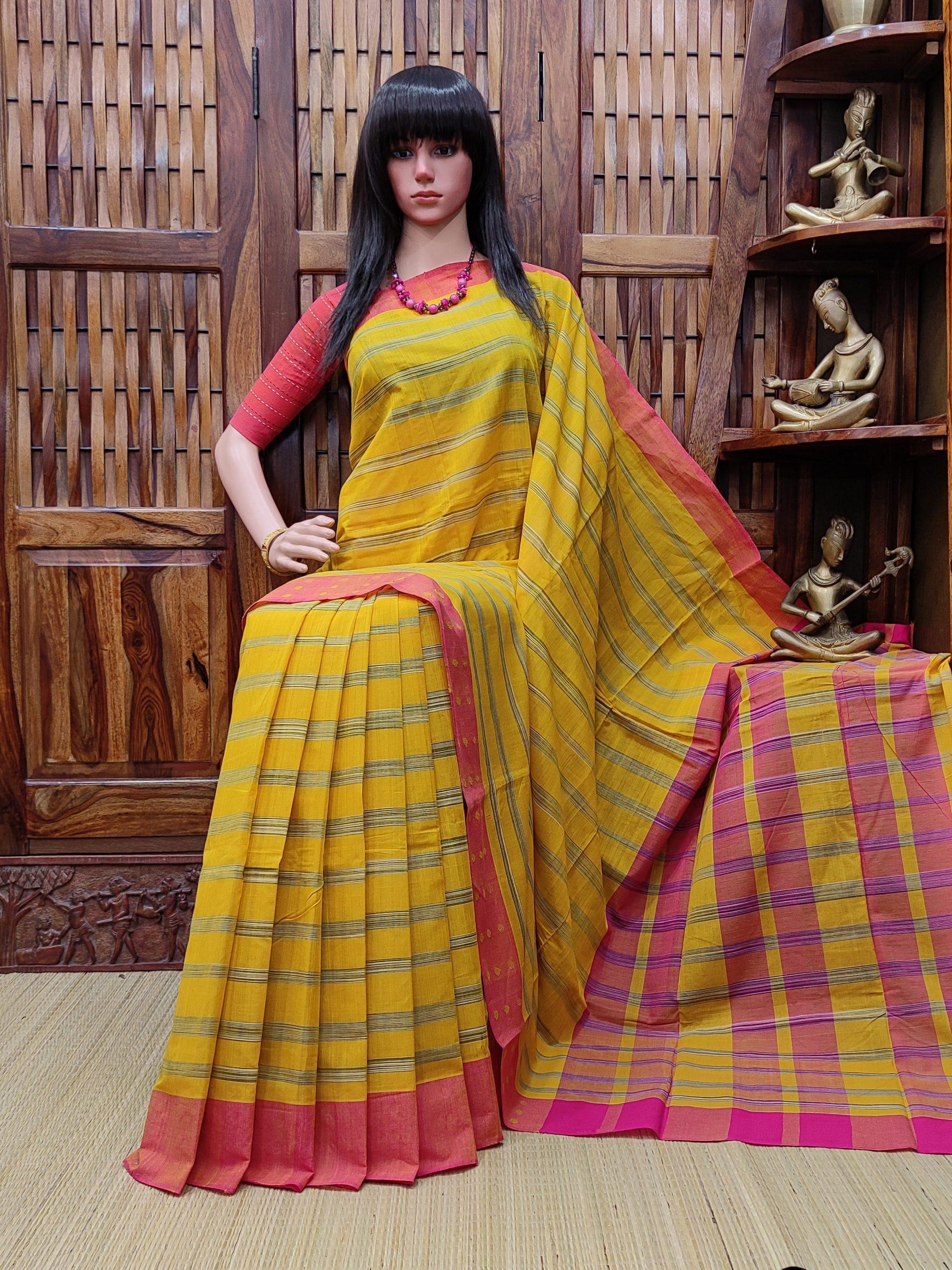 Indulekha - Jamdani Cotton Saree