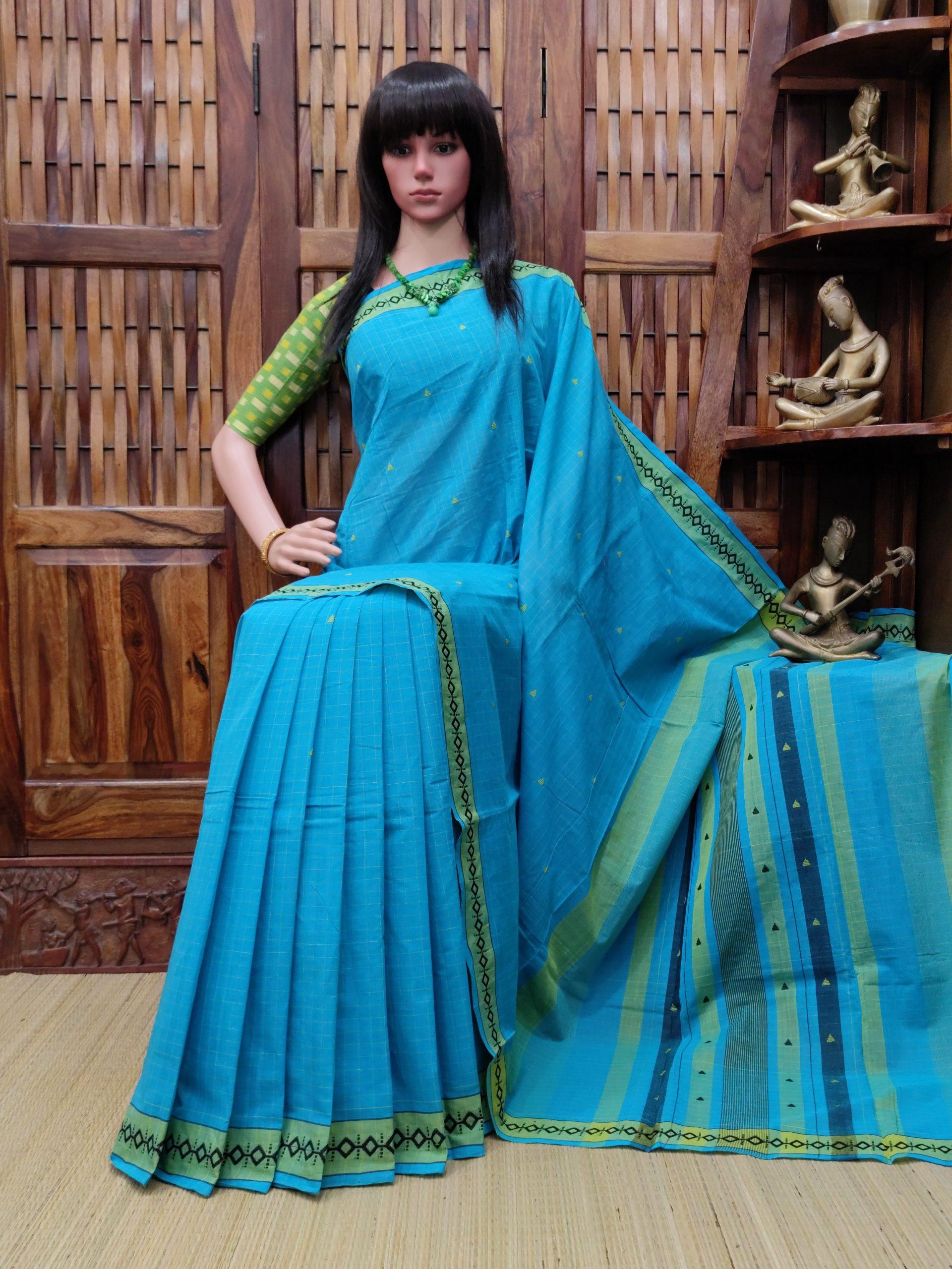 Indumukhi - Jamdani Cotton Saree