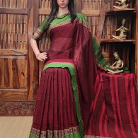 Mahavidya - Mercerized Pearl Cotton Saree
