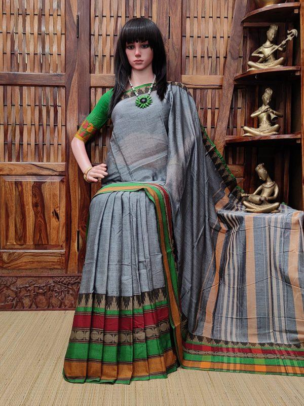 Maitri - Mercerized Pearl Cotton Saree