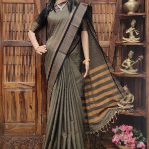 Maniratna - Mercerized Pearl Cotton Saree