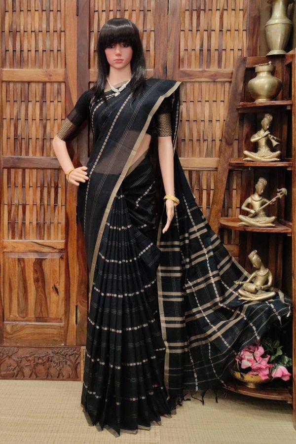 Manjusha - Mercerized Pearl Cotton Saree