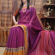 Mudhra - Mercerized Pearl Cotton Saree