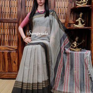 Natabhairavi - Mercerized Pearl Cotton Saree
