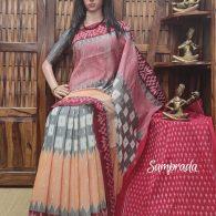 Pambha - Ikkat Cotton Saree