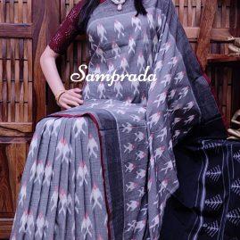 Pavithra - Ikkat Cotton Saree