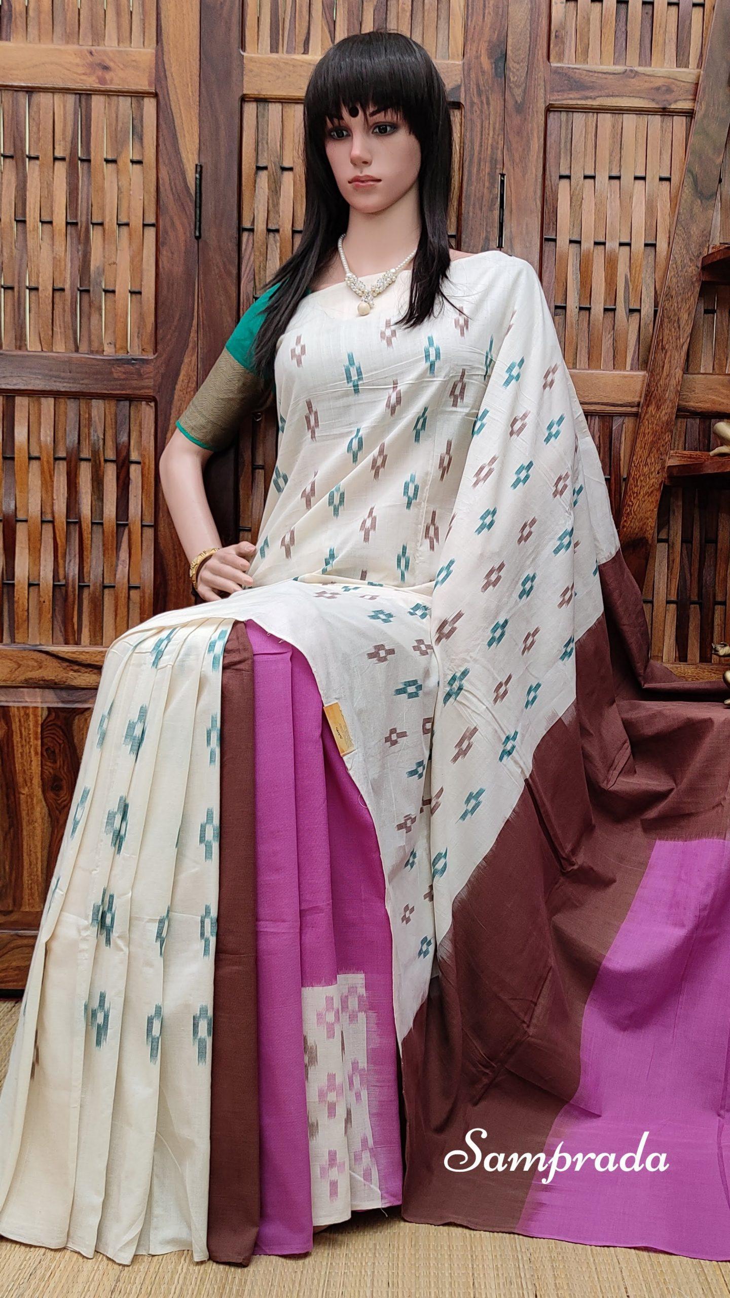 Payoda - Ikkat Cotton Saree