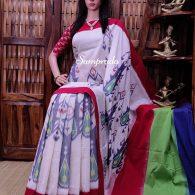 Pranitha - Ikkat Cotton Saree