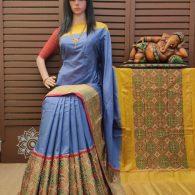 Smrithi - Ikkat Silk Saree