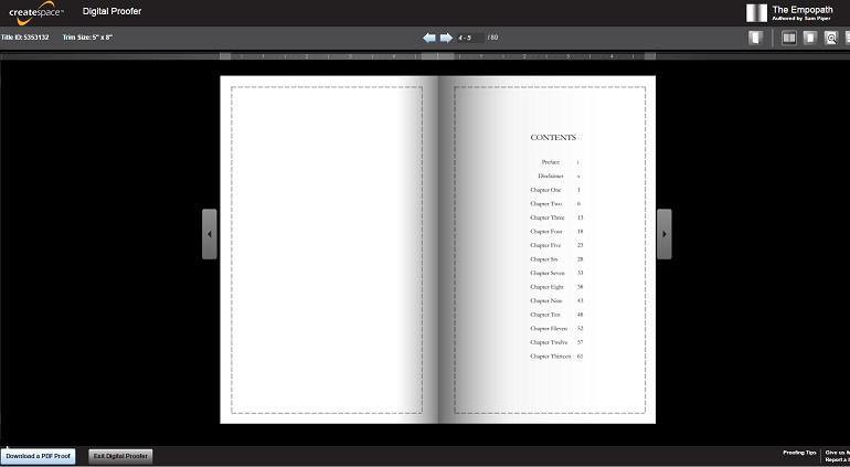 digital proofer createspace amazon self-publishing