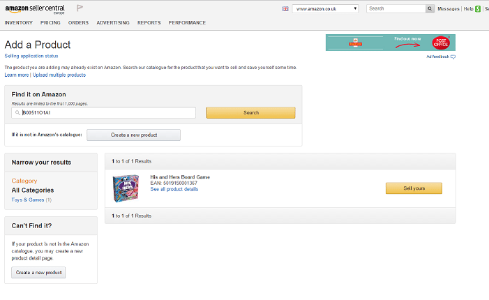 retail arbitrage amazon fba his and hers add product