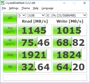 VMware Workstation VM SCSI disk CrystalDiskMark performance benchmark