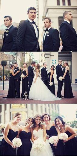 Hochzeit in schwarz - weiß