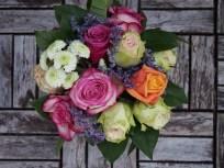 Brautstrauß-bunt-rosen