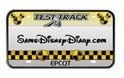 Test Track License Plate - SamsDisneyDiary.com