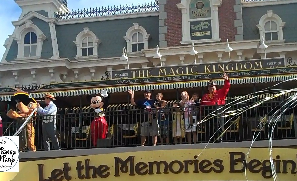 Mickey Greets Guests at the Magic Kingdom Welcome Show
