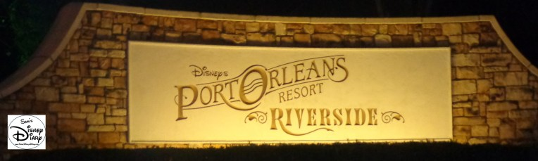 Port Orleans Riverside Marquee at Night