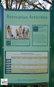 Port Orleans Riverside be sure to check the Recreation Activities schedule.