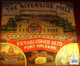 The Port Orleans Riverside Mill & Market features elaborate theming as a working mill (and food court)