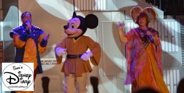 Jedi Mickey on the Star Wars Weekend Stage